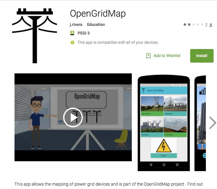 OpenGridMap Android Apps on Google Play