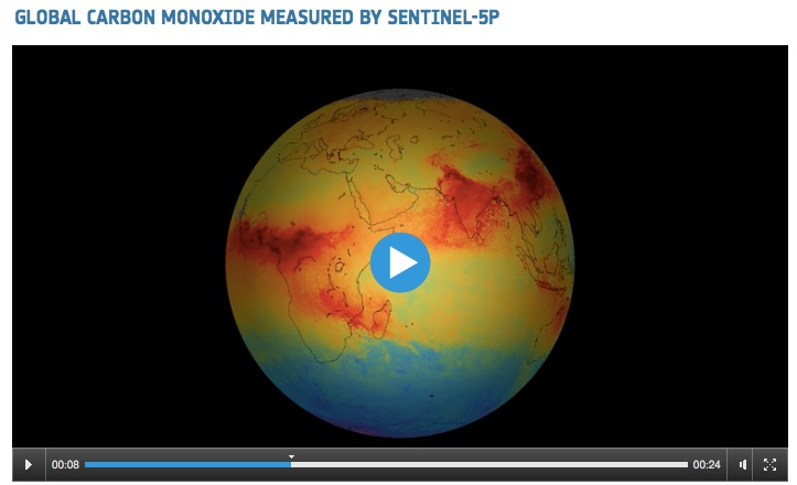 Space in Videos 2017 12 Global carbon monoxide measured by Sentinel 5P