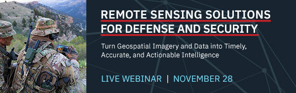 Remote Sensing Solutions for Defense and Security